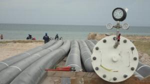 cumana, Emisario submarino, Tuberías Polietileno (PEAD), Instalación de Tuberias