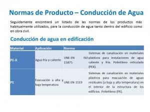 Normas de Producto – Conducción de Agua