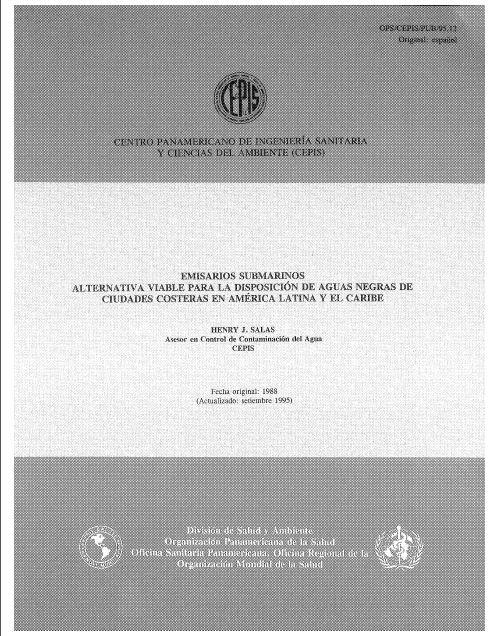 Emisarios Submarinos Alternativa Viable Para la Disposición de Aguas Negras de Ciudades Costeras en América Latina y el Cariba.
