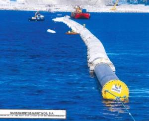 Traslado de Tubería, hundimiento de tuberías, emisario submarino