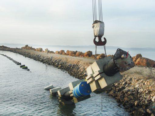 Continuación de la Rehabilitación de la Descarga Submarina de la Estación de Bombeo Cumaná II. Estado Sucre. Venezuela. Año 2008.