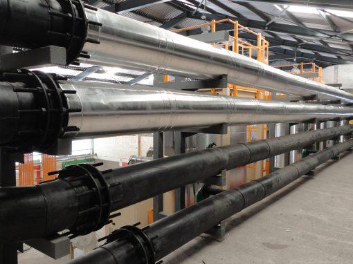Suministro e instalación de tubería PEAD en sistema de enfriamiento . Zona Industrial San Vicente II, Maracay – Estado Aragua.Venezuela. 2014.